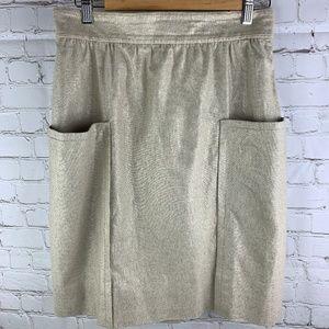 Cartonnier Casetta Metallic Linen Pencil Skirt